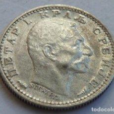 Monedas antiguas de Europa: MONEDA DE PLATA DE 50 PARA DE DINAR DE 1915 DE SERBIA, REY PETAR I, ESCASA. Lote 146956862