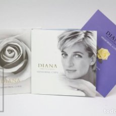 Monedas antiguas de Europa: CARTERA MONEDA CONMEMORATIVA 5 LIBRAS / MEMORIAL COIN - DIANA. PRINCESA GALES - ROYAL MINT, 1999 . Lote 147151054