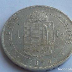 Monedas antiguas de Europa: ESCASA MONEDA PLATA 1 FLORIN IMPERIO HUNGRIA DE 1879 EMPERADOR FRANCISCO JOSE I,. Lote 147234042
