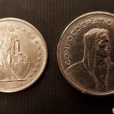 Monedas antiguas de Europa: DOS MONEDAS DE PLATA. 5 FRANCOS SUIZOS 1953 CECA B Y 2 FRANCOS 1967. Lote 147548377
