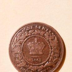 "Monedas antiguas de Europa: 1 CENT NUEVA ESCOCIA 1861 VARIANTE ""LARGE BUD"". Lote 147549414"