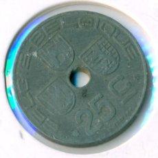 Monedas antiguas de Europa: BÉLGICA 25 CÉNTIMOS 1944 ( MBC ) KM # 132 - BELGIQUE. Lote 147556130