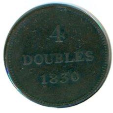 Monedas antiguas de Europa: GUERNSEY 4 DOUBLES 1830 ( MBC ) KM # 2. Lote 147556346