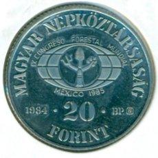 Monedas antiguas de Europa: HUNGRÍA 20 FORINT 1984 ( SC ) KM # 637 - SILVICULTURA PARA EL DESARROLLO. Lote 147556390