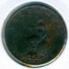 Monedas antiguas de Europa: GRAN BRETAÑA INGLATERRA FARTHING 1799 ( BC+ ) KM # 646 - GEORGE III. Lote 147556442