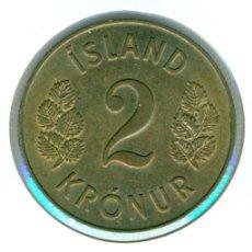 Monedas antiguas de Europa: ISLANDIA 2 CORONAS 1963 ( EBC ) KM # 13A.1. Lote 147556554