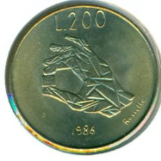 Monedas antiguas de Europa: SAN MARINO 200 LIRAS 1986 ( SC ) KM # 194 - MICROCHIP. Lote 147556782