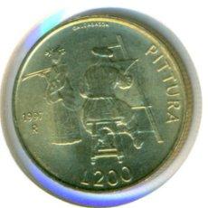 Monedas antiguas de Europa: SAN MARINO 200 LIRAS 1997 ( SC ) KM # 366 - PINTURA. Lote 147556802