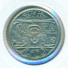 Monedas antiguas de Europa: VATICANO 100 LIRAS 1993 - XV ( SC ) KM # 247 - JUAN PABLO II. Lote 147556842