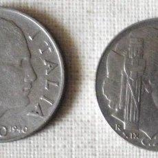 Monedas antiguas de Europa: DOS MONEDAS ITALIANAS DE 20 CENTESIMI. AÑOS 1940 Y 1941. Lote 147619686