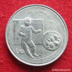 Monedas antiguas de Europa: SAN MARINO 10 LIRE 1976 UNC. Lote 147646150