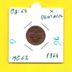 Monedas antiguas de Europa: REPUBLICA PORTUGUESA X CENTAVOS 1964 - [D - DE]. Lote 147755722
