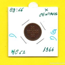 Monedas antiguas de Europa: REPUBLICA PORTUGUESA X CENTAVOS 1966 - [D - DG]. Lote 147756610