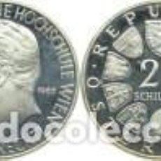 Monedas antiguas de Europa: AUSTRIA 25 SCHILLING (CHELINES) PLATA 1965 150 ANIV. INSTITUTO TECNICO DE VIENA PROOF. Lote 147757022