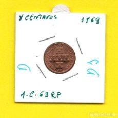 Monedas antiguas de Europa: REPUBLICA PORTUGUESA X CENTAVOS 1969 - [D - DJ]. Lote 147758354