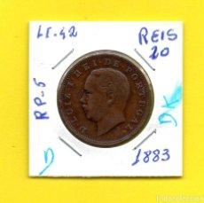 Monedas antiguas de Europa: REPUBLICA PORTUGUESA XX REIS 1883 REY D. LUIS I.° - [D - DK]. Lote 147759486