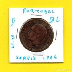Monedas antiguas de Europa: REPUBLICA PORTUGUESA XX REIS 1884 REY D. LUIS I.° - [D - DL]. Lote 147759890