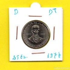 Monedas antiguas de Europa: REPUBLICA PORTUGUESA 25 ESCUDOS 1977 ALEXANDRE HERCULANO - [D - DT]. Lote 147764142