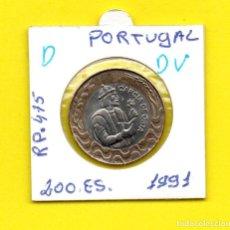 Monedas antiguas de Europa: REPUBLICA PORTUGUESA 200 ESCUDOS 1991 GARÇIA DE ORTA - [D - DV]. Lote 147765262