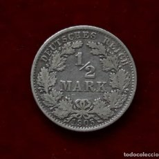 Monedas antiguas de Europa: 1/2 DE MARCO 1905 ALEMANIA PLATA CECA A. Lote 147842198