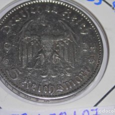 Monedas antiguas de Europa: MONEDA CIRCULADA DE 5 REICH MARK DE PLATA.1934 J. (MBC) III REICH.. Lote 147889282