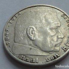 Monedas antiguas de Europa: MONEDA DE PLATA 2 MARCOS 1937 CECA A, BERLIN, ALEMANIA NAZI, MARISCAL PAUL VON HINDENBURG. Lote 147893034