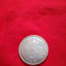Monedas antiguas de Europa: 2 REICHMARK TERCER REICH ESVASTICA ALEMANIA 1937 A PLATA. Lote 147929910