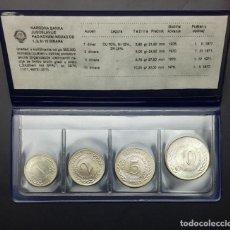 Monedas antiguas de Europa: YUGOSLAVIA 4 MONEDAS DE 1 2 5 10 DINAR 1970-1976 LA FAO MENTA SET UNC. Lote 148018202