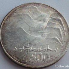 Monedas antiguas de Europa: MONEDA DE PLATA DE 500 LIRAS REPUBLICA SAN MARINO DE 1975, PESA 11 GRS. Lote 148027938