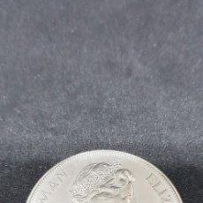 Monedas antiguas de Europa: 1 CORONA 1952-1977 SILVER JUBILEE OF MAN ELISABETH II 38.61MM Y 28.28G. Lote 148214018