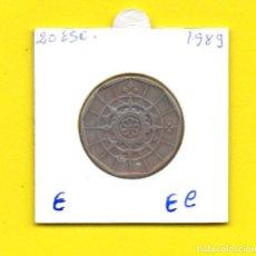 Monedas antiguas de Europa: REPUBLICA PORTUGUESA 20 ESCUDOS 1989 - [E - EC]. Lote 148220290