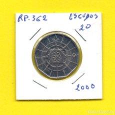 Monedas antiguas de Europa: REPUBLICA PORTUGUESA 20 ESCUDOS 2000 - [E - EE]. Lote 148221162