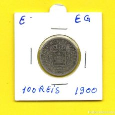 Monedas antiguas de Europa: REPUBLICA PORTUGUESA 100 REIS 1900 D. CARLOS I.°- [E - EG]. Lote 148223018