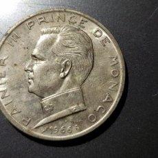 Monedas antiguas de Europa: 5 FRANCOS PLATA RAINIER III PRINCE DE MONACO 1966. Lote 148659366