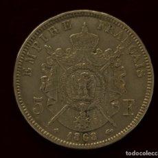 Monedas antiguas de Europa: 5 FRANCOS 1868 PLATA FRANCIA BB. Lote 148767790