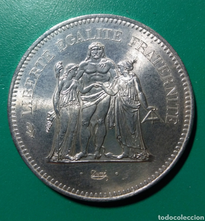FRANCIA. 50 FRANCS DE PLATA. 1977. (Numismática - Extranjeras - Europa)