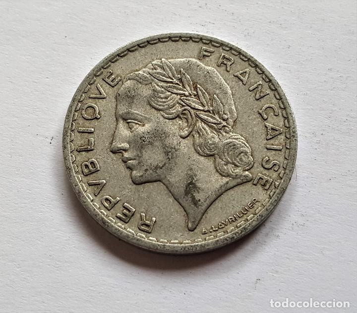 Monedas antiguas de Europa: FRANCIA 5 FRANCS 1949 - Foto 2 - 149526770