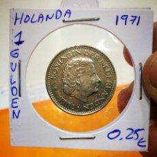 Monedas antiguas de Europa: MONEDA HOLANDA 1 GULDEN 1971. Lote 149633578