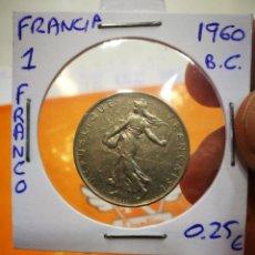 Monedas antiguas de Europa: MONEDA FRANCIA 1 FRANCO 1960 B.C.. Lote 149694822