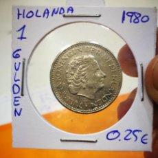 Monedas antiguas de Europa: MONEDA HOLANDA 1 GULDEN 1980. Lote 149695222