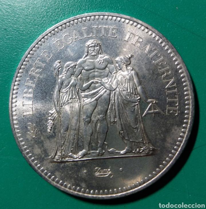 FRANCIA. 50 FRANCS DE PLATA. 1975. SC. (Numismática - Extranjeras - Europa)