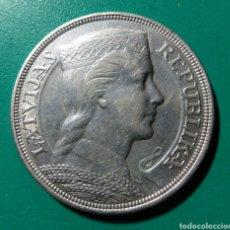 Monedas antiguas de Europa: LETONIA. 5 PIECI LATI DE PLATA. 1.929. EBC.. Lote 150038928