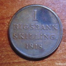 Monedas antiguas de Europa: DINAMARCA 1818 1 RIGSBANK SKILLING 1/96 RIGSBANK DALER. Lote 150694462
