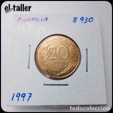 Monedas antiguas de Europa: FRANCIA - KM#930 - 20 CENTIMOS - 1997. Lote 151137038