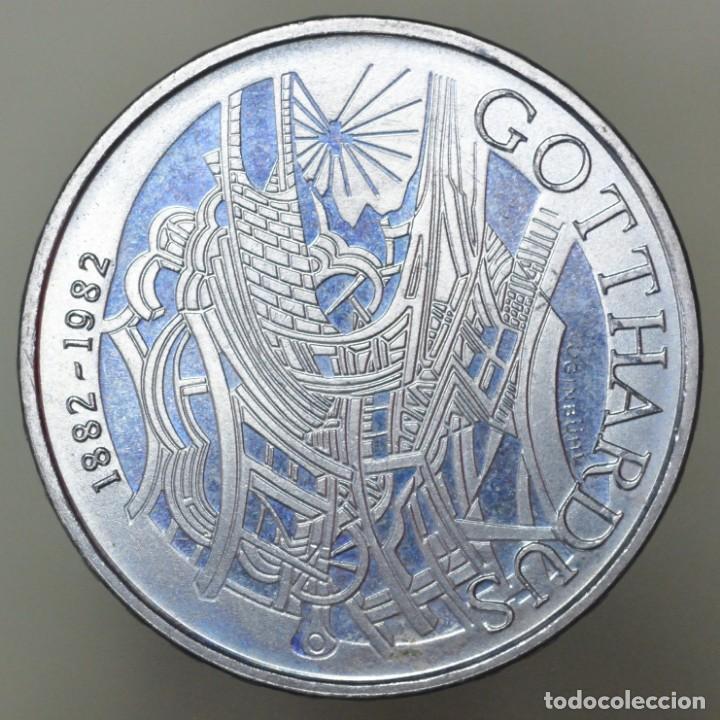 Monedas antiguas de Europa: 5 Francos Suiza 1982 Gotthardus PROOF - Foto 2 - 151501798