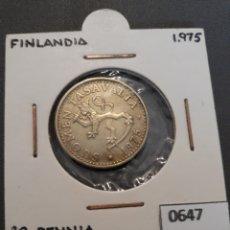 Monedas antiguas de Europa: FINLANDIA 20 PENNIA 1975. Lote 151706800