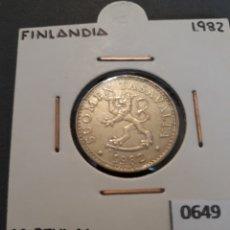 Monedas antiguas de Europa: FINLANDIA 20 PENNIA 1982. Lote 151707064