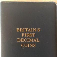 Monedas antiguas de Europa: BRITAIN'S FIRTS DECIMAL COINS, MONEDAS EN ESTUCHE GB UK. Lote 151714794