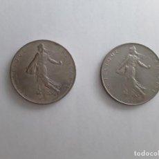 Monedas antiguas de Europa: 2 MONEDAS DE FRANCIA DE 1 FRANCO DEL AÑO 1976. Lote 151727930