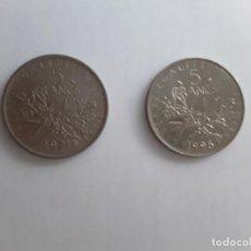 Monedas antiguas de Europa: 2 MONEDAS DE FRANCIA DE 5 FRANCOS DE LOS AÑOS 1971 Y 1995. Lote 151728970